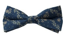 NEW Bow Tie Floral Western Chambray Tie Made with Ralph Lauren Fabric RRL