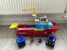 Paw Patrol Sea Patroller Boat with working lights and sounds + Pups And Veh