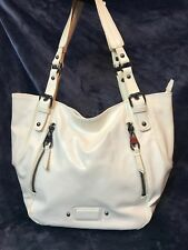 Nine West- High Quality Large Faux White Leather Hobo Bag- looks like never used