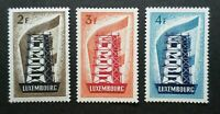 LUXEMBOURG TIMBRES YVERT N° 514/516 EUROPA 1956 NEUFS xx LUXE VALEUR 550€