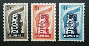 LUXEMBOURG STAMP TIMBRES YVERT N° 514/516 EUROPA 1956 NEUFS xx LUXE VALEUR 550€