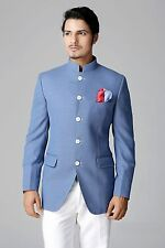 Men Designer Wedding Groom Elegant Bride Jodhpuri Dinner Suit Coat Jacket Blazer