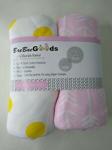 Bae Bae Goods Baby Sleep Wearable Blanket Soft Cotton Unzips 2 Pack 18-24 Months