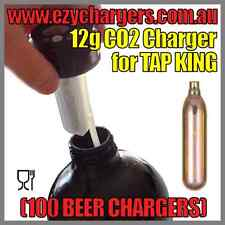 100 BEER CHARGERS 12G CARTRIDGE NON-THREADED TAP KING CARBON DIOXIDE BULBS CO2