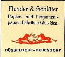 Flender & Schlüter Düsseldorf PAPIER-& PERGAMENT FABRIKANTEN Trademark 1912