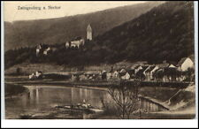 Zwingenberg Neckar Baden-Württemberg Postkarte 1927 Teilansicht Fähre Fluß