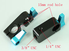 single Rod clamp and 1pcs 90°Rod Clamp for 15mm Support Rail Rig Rail