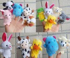 10PCs Plush Animal Finger Puppets Baby Kid Dolls Boy Girl Party Cute Gift 10PCs-