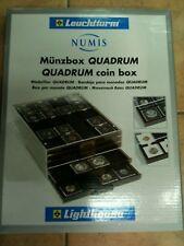 LEUCHTTURM BOX CASSETTO PLEXIGLASS TIPO MB X 20 MONETE IN CAPS QUADRUM OBLO' N