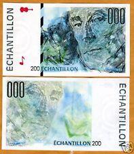 France, French Test Note, Echantillon, 200, Ravel, UNC