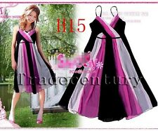 2014 Sexy Multi Color Evening Cocktail Party Wedding Bridesmaids Dress