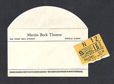 """Chita Rivera """"BYE BYE BIRDIE"""" Dick Van Dyke / Opening Week 1960 Ticket Stub"""