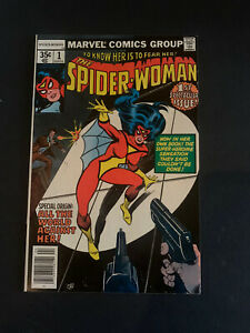 SPIDER-WOMAN #1 MARVEL 1978 JESSICA DREW ! NEW ORIGIN & MASK CHANGE !! VF/NM !!