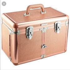 Sephora Collection STARLIT Large Train Case Rose Gold Cosmetic Makeup Organizer