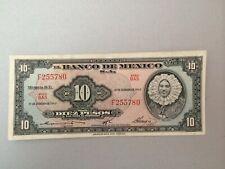 1965 P-58k Serie BAS Mexico 10 Pesos