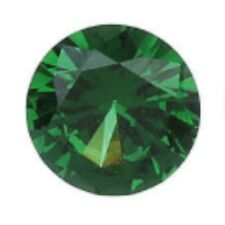 4 mm round shaped synthetic green colored zircon 50 pcs** Lot no. MD841
