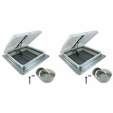 "2 Pack 14"" RV Camper Motorhome Trailer HENG'S 71111-C Roof Vent Kit w/Butyl Tape"