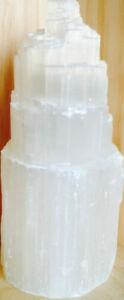 Natural handmade Crystal Selenite Lamp 18cm - 23cm tall