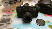 Vintage 1985 WESTON WX-7 35MM Film Camera F=50MM Optical Lens NEAR MINT IN BOX