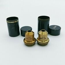 Spencer Microscope Objective 4x 32mm Brass Objectives Lot of 2