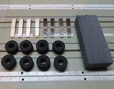 8 Schleifer + 8 Moosgummi Reifen für G-Plus / AFX  Motor, kostenloser Versand