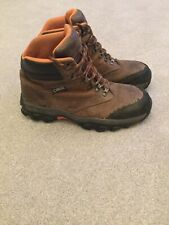 wolverine boots gore tex Brown Leather Walking Hiking Boots Size:7 Euro:41