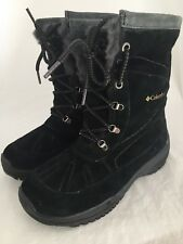 COLUMBIA Lavela Black Suede Lace Up Waterproof Insulated Winter Boots Size 7