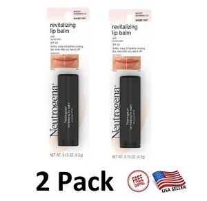 2 x Neutrogena Revitalizing and Moisturizing Tinted Lip Balm - Sheer Shimmer 10