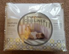 Auroville Breathable Baby Mesh Crib Liner Classic Standard Baby Crib White New