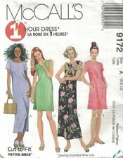 Misses & Petite Dress 2 Lengths Sleeves Sleeveless McCall's 9172 Size 6-10