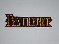 PESTILENCE DEATH METAL IRON ON EMBROIDERED PATCH