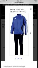 Nwt New With Tags Sealed Adidas United Training Suit Cobalt / Black Womens Sz. L