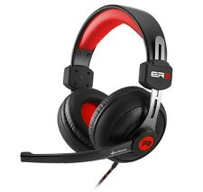 Sharkoon rush er2 stéréo casque écouteurs noir/rouge support de tête Gaming-NEUF