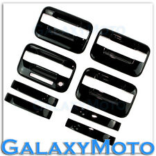 04-14 Ford F150 Truck Gloss Black 4 Door Handle+keypad+no PSG keyhole Cover