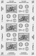 ÖSTERREICH - 2004 SCHWARZDRUCK KLEINBOGEN 2482 TAG DER BRIEFMARKE ANK 2516 KB 23