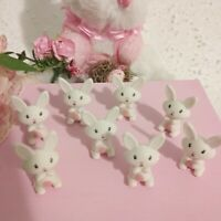 8 Miniature Easter Bunny Rabbit for  Crafts Fairy Gardens or Party Basket Filler