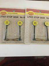 Model Power Lgb Scale Accessories Lited Lighted Stop Sign 2 Packages 4 Total