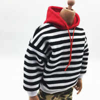 1/6 Scale Man's Striped Casual Tops Hoodie for 12'' Phicen Action Figure