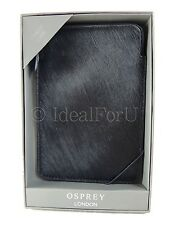 OSPREY LONDON New Women's Kindle case Genuine Leather Black Animal Print Boxed