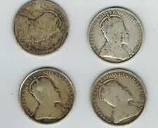 Canada 25 Cents 1902 1907 1908 1910 Lot of 4 Collector Coins Quarter Edward VII