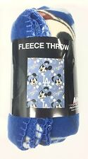 """LOS ANGELES DODGERS MICKEY MOUSE 40"""" X 50"""" KIDS FLEECE BLANKET THROW WITH LOGOS"""