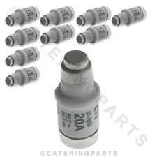 CONFEZIONE 10 x Fusible LINK/Ceramica Bottiglia FUSIBILI TIPO D02 20A E18