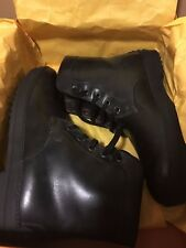 NEW Tods Tod'S Polacco 5 Occhielli Rest Double T Leather Boots Size 7.5