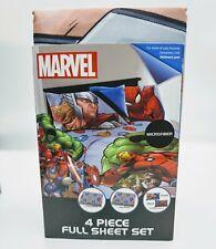 Marvel  4 Piece Full Sheet Set (New)
