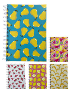 Various Premium Fruit Print A5 Dotted Notepads 80gsm 70 Sheets