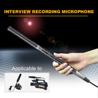 Professional Condenser Shotgun Interview Microphone Mic For Camera Camcorder New