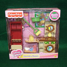 NEW Fisher-Price Loving Family Doll House Laundry Room Washer Dryer2006 Retired