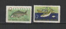 Vietnam du Nord 1963 pisciculture poisson Y&TN°325 & 326 2 timbres /TR8193