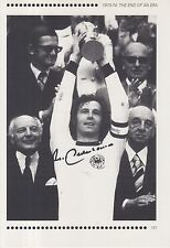 Franz Beckenbauer Alemania Revista Foto Firmada a mano.
