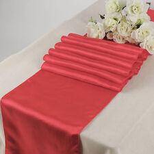 """10 pcs corail 12""""x108"""" satin table runner mariage anniversaire fête décoration"""